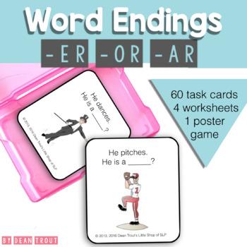 Vocabulary: Suffix -er -ar -or Noun Derivations