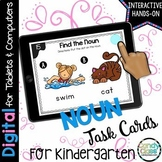 Kindergarten Nouns Digital Task Cards - Paperless for Google Use