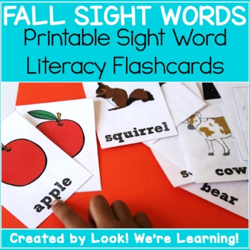 Noun Dolch Sight Word Flashcards - Fall Themed!