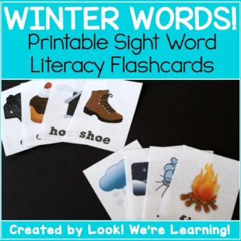 Noun Sight Word Flashcards - Winter Nouns!