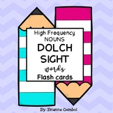 Noun Dolch Sight Words Flash Cards