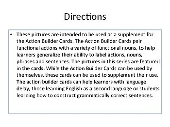 Noun Flashcards- Action Builder Companion