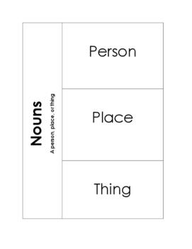 Noun Flip Book for Interactive Notebook