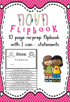 Noun Flipbook with I can... statements