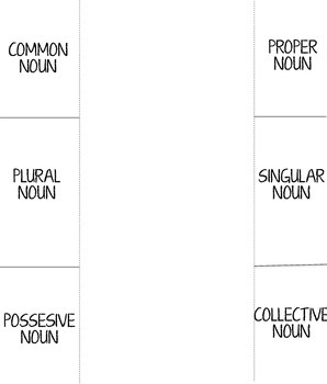 Noun Foldable