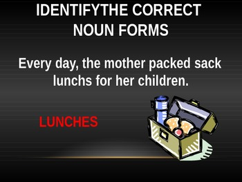 Noun Forms PPT Activity