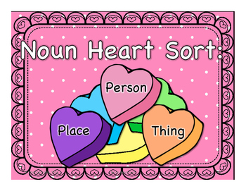Noun Heart Sort: Person . Place . Thing