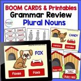 BOOM CARDS GRAMMAR and ELA Ending Rules Dog Theme plus Plural Nouns Word Sort