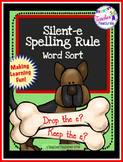 Silent E Activities: Spelling Rule Word Sort (Dog Theme)