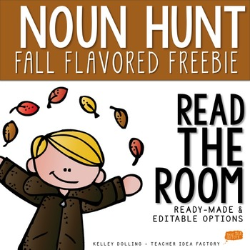 Nouns - Read the Room Activity {Fall Freebie}