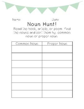Noun Hunt (multiple versions)