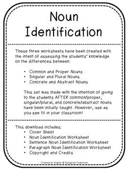 Noun Identification