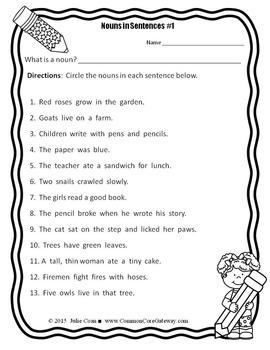 Noun Identification: Nouns in Sentences