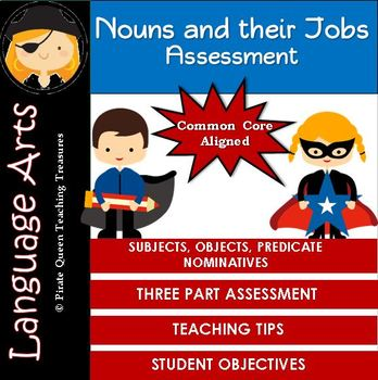 Noun Jobs Assessment /CCSS Aligned 3rd Grade Up