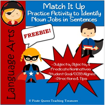 Noun Jobs Freebie: Match It Up!