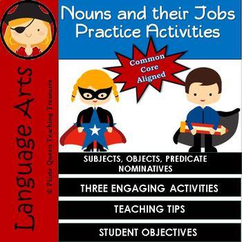 Noun Jobs Practice Activities CCSS Aligned