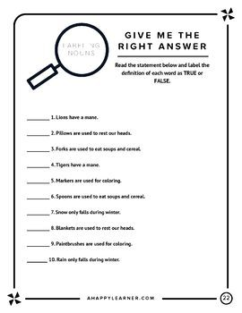 Noun Labeling Word Retrieval/Vocabulary Activity for Speech Therapy