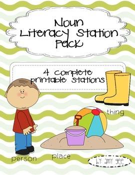Noun Literacy Station Pack