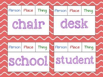 Noun Non-Sense Solve & Clip Task Cards