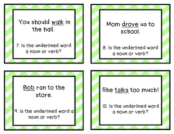 Noun OR Verb Task Cards