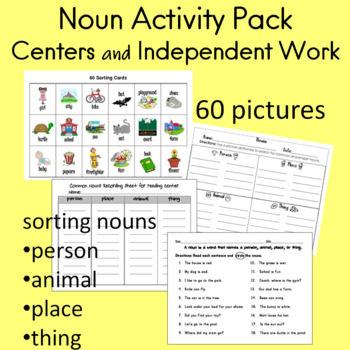 Noun Activity Pack for Centers and Independent Work