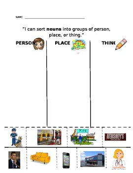 Noun Picture Sort - Grammar