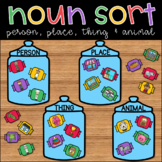 Noun Picture Sort: Person, Place, Thing & Animal ELA Center
