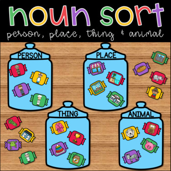 Nouns Person, Place, Thing & Animal Sort for ELA Centers