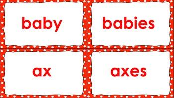 Noun Plural Matching Games