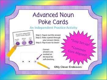 Noun Poke Cards (Advanced level)
