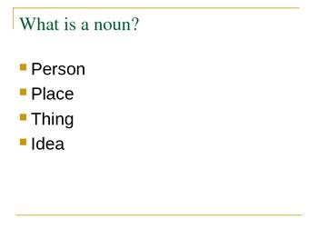 Noun Power Point Lecture