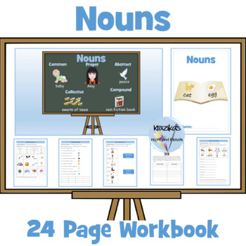 Noun PowerPoint lesson and Differentiated Worksheets