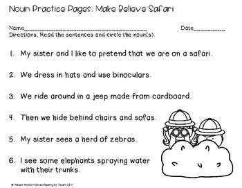 Noun Practice Pages