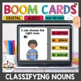 Noun Practice Set Boom Cards for Kindergarten