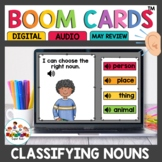 Noun Practice Set Boom Cards for Kindergarten