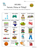 Noun Practice Worksheet--Person, Place or Thing Color Coding