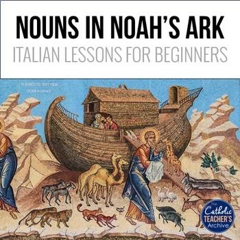 Noun Practice for Beginner Italian: Noah's Ark