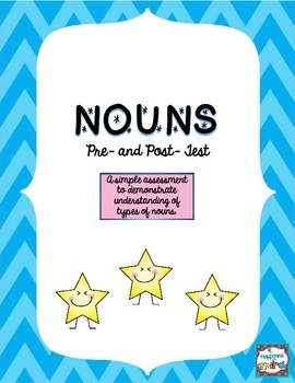 Noun Pre and Post Test FREEBIE