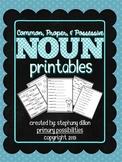 Noun Printables {Homework, Seat Work, and More!}