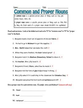 Noun & Pronoun packet