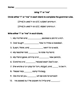 Noun & Pronoun packet