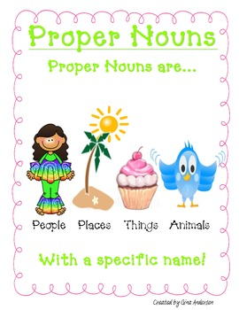 Noun & Proper Noun Packet