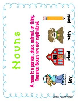 Noun & Proper Noun Packet