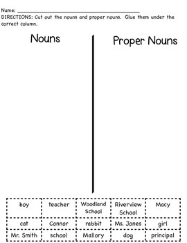 Noun & Proper Noun Sort