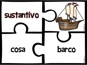Noun Puzzles for NOVEMBER in Spanish