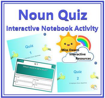 Interactive Noun Quiz Activity for IWB FREEBIE