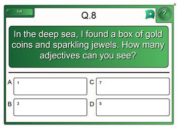 Interactive Adjectives Quiz Activity for IWB FREEBIE