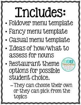 Noun Restaurants - a Unique and Creative Assessment