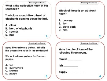 Noun Review  Scoot - Common Core Task Cards