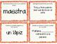 Noun Review Task Cards/ Repaso de los Sustantivos Tarjetas